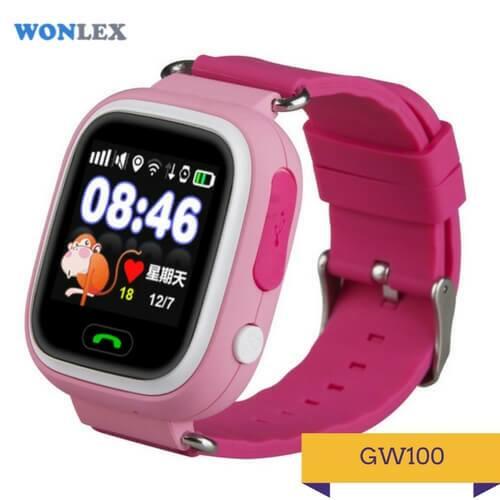 Детские умные часы Q100 розового цвета
