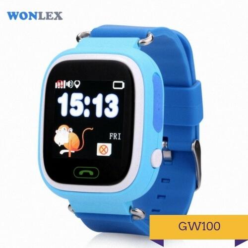 Детские умные часы Q100 синего цвета