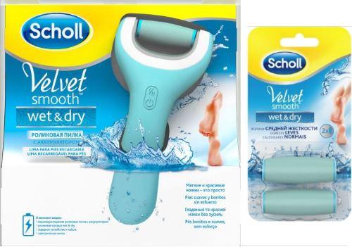 Пилка scholl velvet smooth wet&dry и сменные ролики