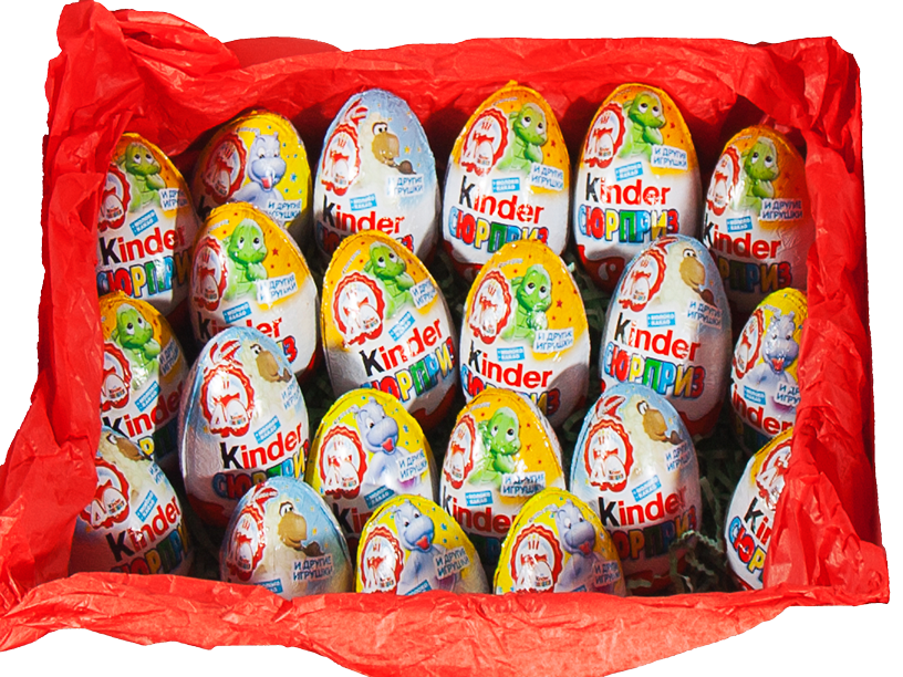 шоколадные яйца kinder