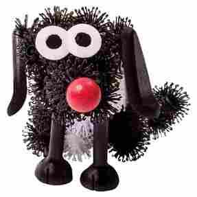 конструктор липучка Bunchems черная собака