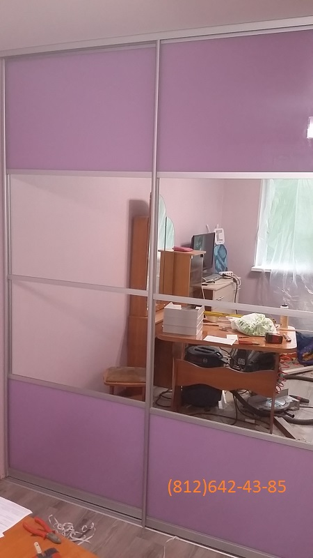 Двери-купе комбинированные стеклянные