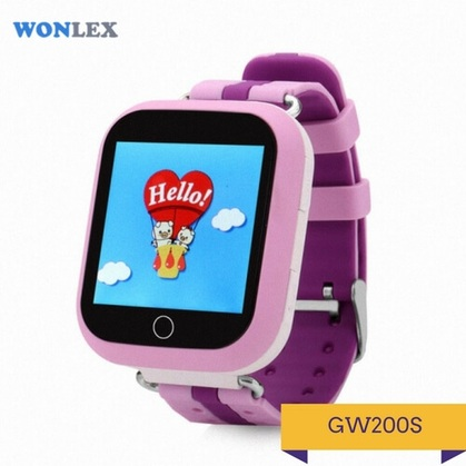Детские умные часы Q200S розового цвета