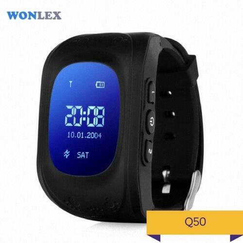 Детские умные часы Q50 черного цвета