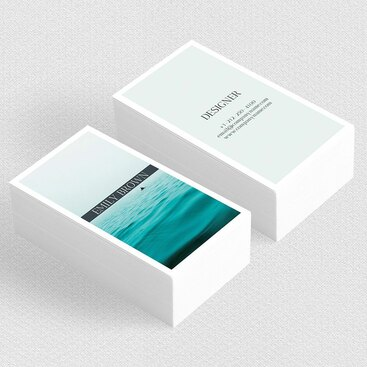 Clean Travel Business Card Design Example