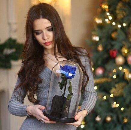 Роза в колбе синяя Magic Rose