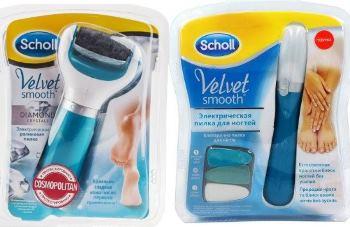 Пилка для ногтей scholl velvet smooth + масло по уходу за ногтями