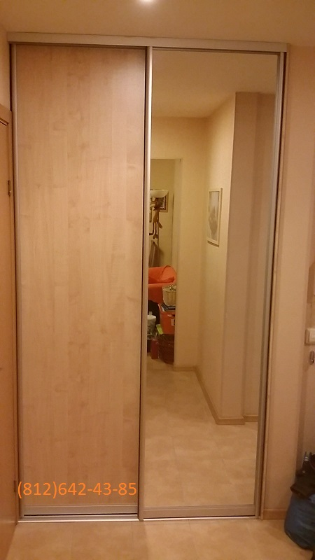 Двери-купе МДФ+зеркало