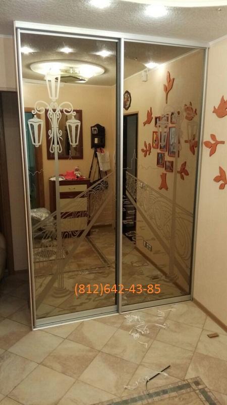 Двери-купе зеркало бронза