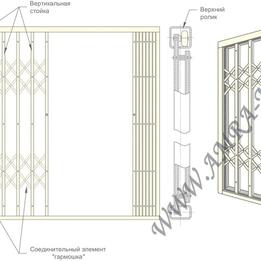 раздвижные решетки на окна гармошка цена