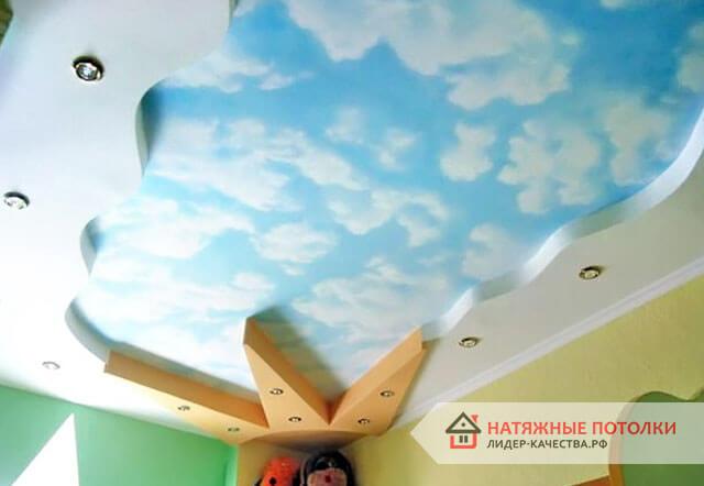 Потолок «Небо» в детской комнате