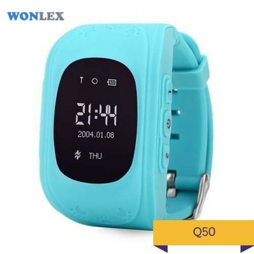 Детские умные часы Q50 голубого цвета