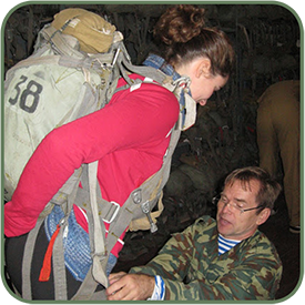 Подгонка и проверка парашютного снаряжения