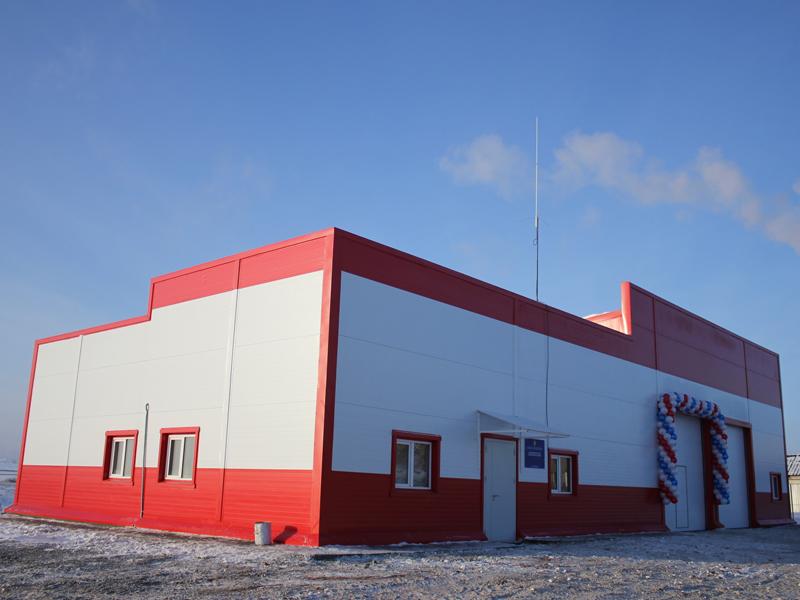 Быстровозводимые здания пожарной части - ЛСТК