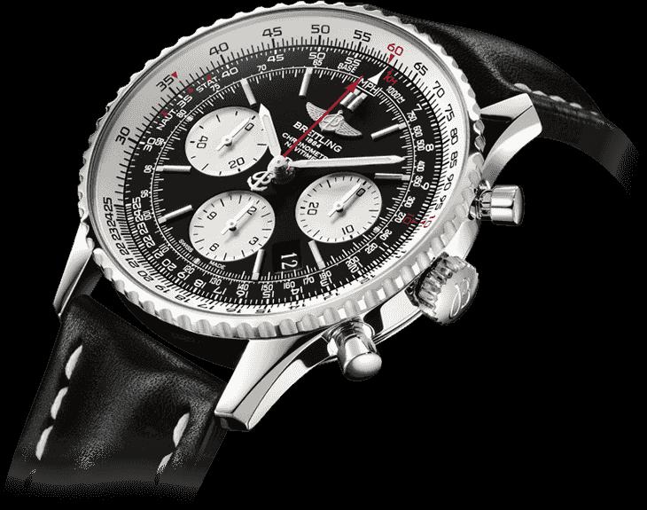 Детальный вид циферблата часов Breitling Navitimer
