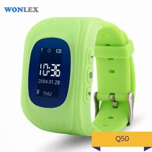 Детские умные часы Q50 зеленого цвета