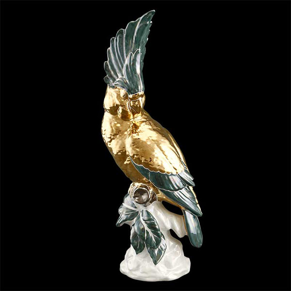 статуэтка AHURA курамика ручной работы, золото, сваровски