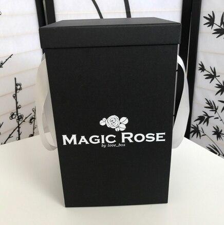 Роза в колбе белая MINI Magic Rose