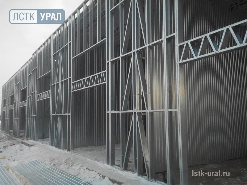Строительство торгового рынка из ЛСТК