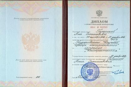 Диплом Гараниной Анны Станиславовны