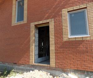 Обварка входной двери проем из газобетона
