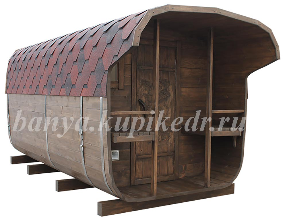 Баня-бочка из кедра