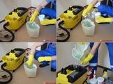 Подготовка раствора для чистки ковров Чистота 96