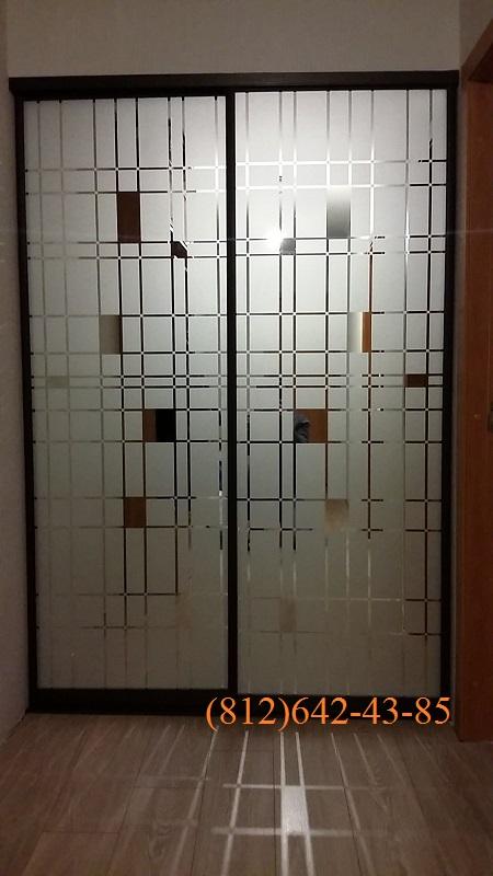Пескоструйные двери-купе