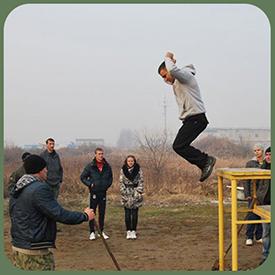 Тренаж действий перед прыжком с парашютом