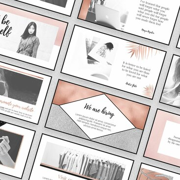rose-gold-facebook-template post banner
