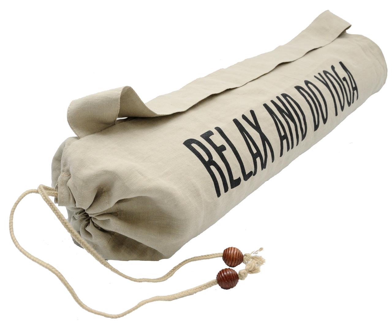 Натуральный чехол для йога коврика