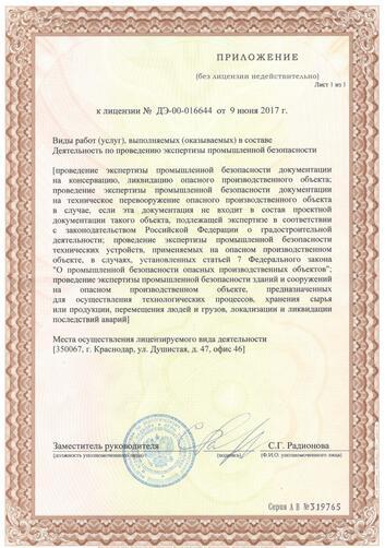 Лицензия на проведение экспертизы промышленной безопасности