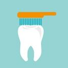 Стоматолог учит правильному уходу за зубами