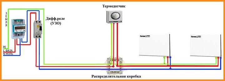 Схема подключение отопления Termoplaza