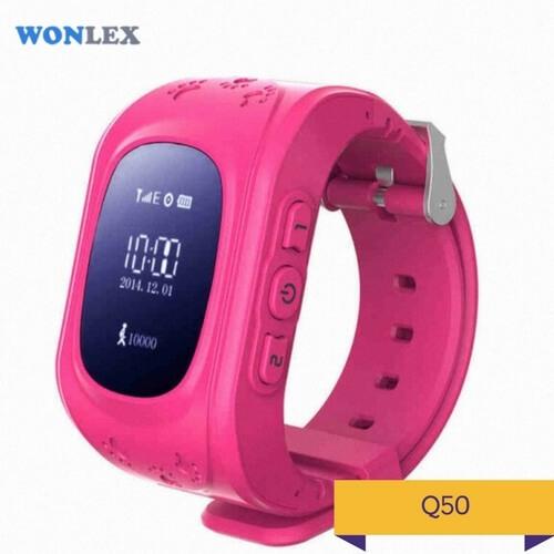 Детские умные часы Q50 розового цвета