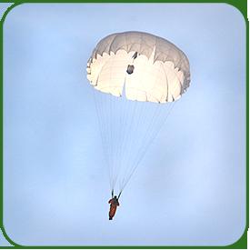 Полет над землей под куполом